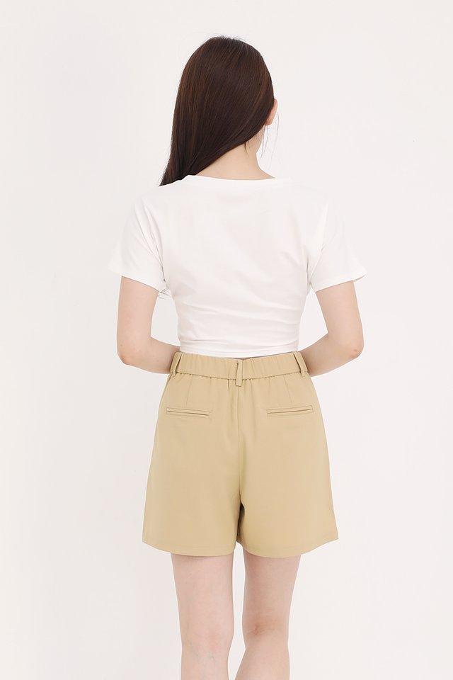 Skyla Criss Cross Basic Top (White)