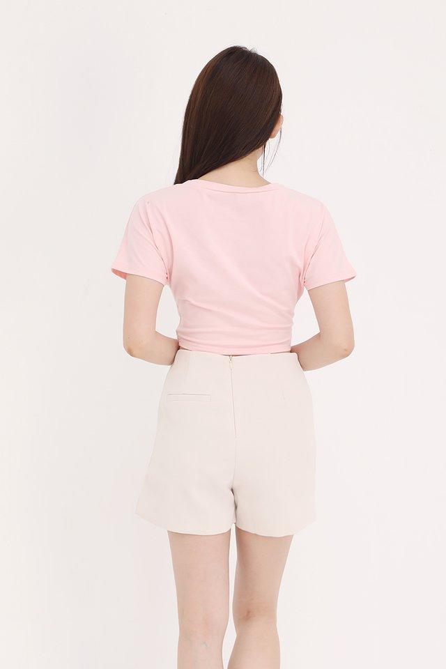 Skyla Criss Cross Basic Top (Pink)