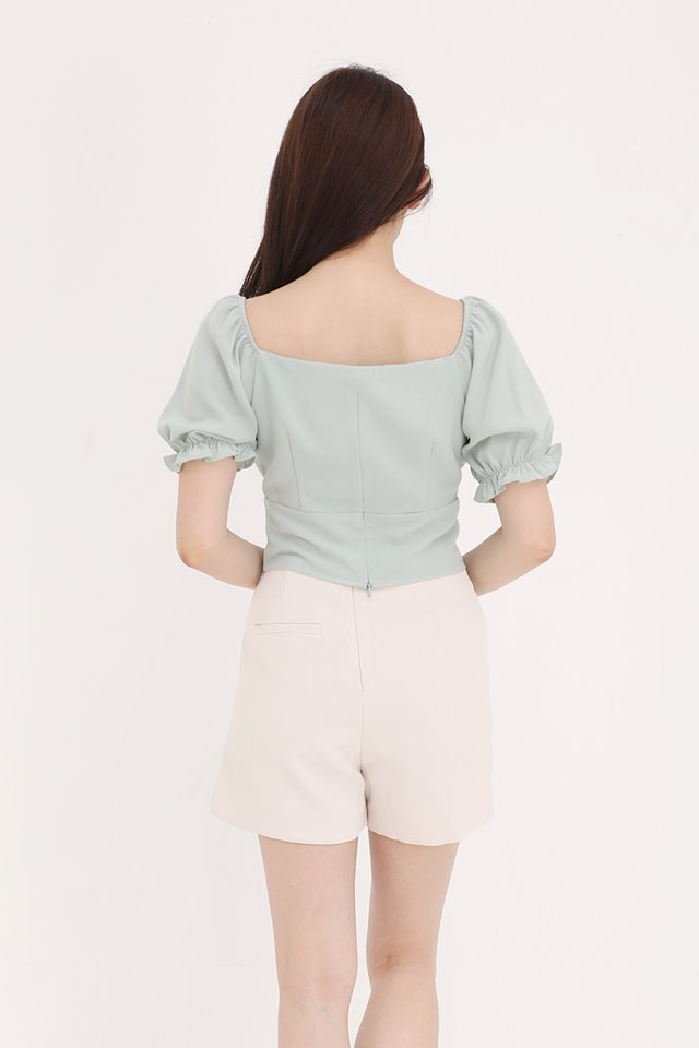 Liana Ruched Top (Green)