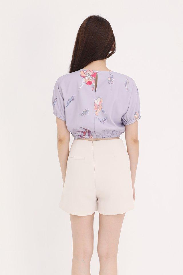 Gina Floral Top (Lilac)