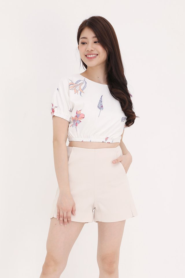 Gina Floral Top (White)