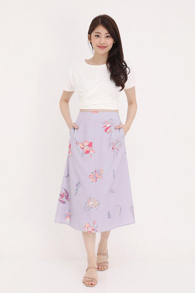 Gina Floral Skirt (Lilac)
