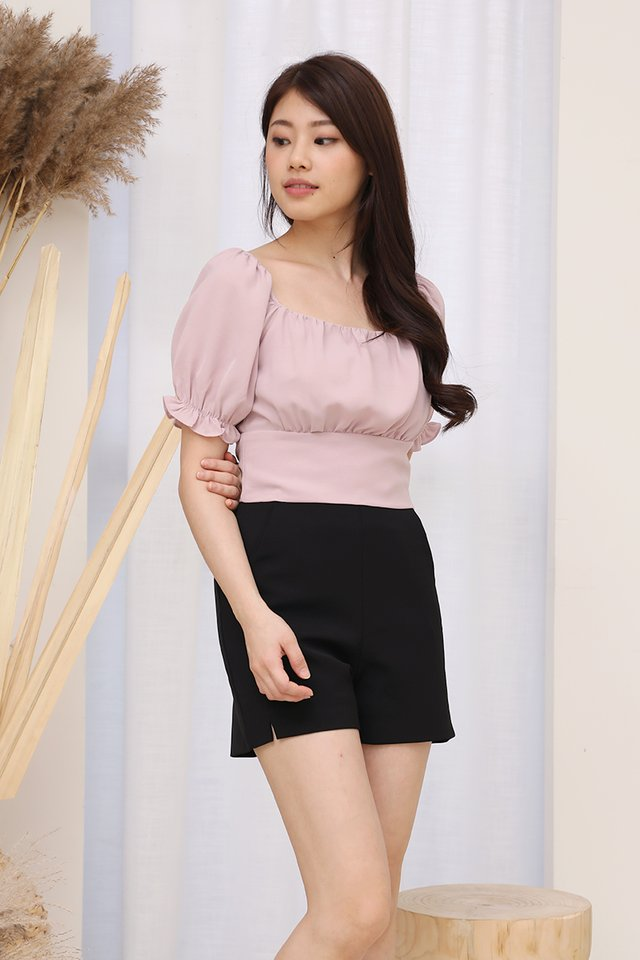 Liana Ruched Top (Pink)