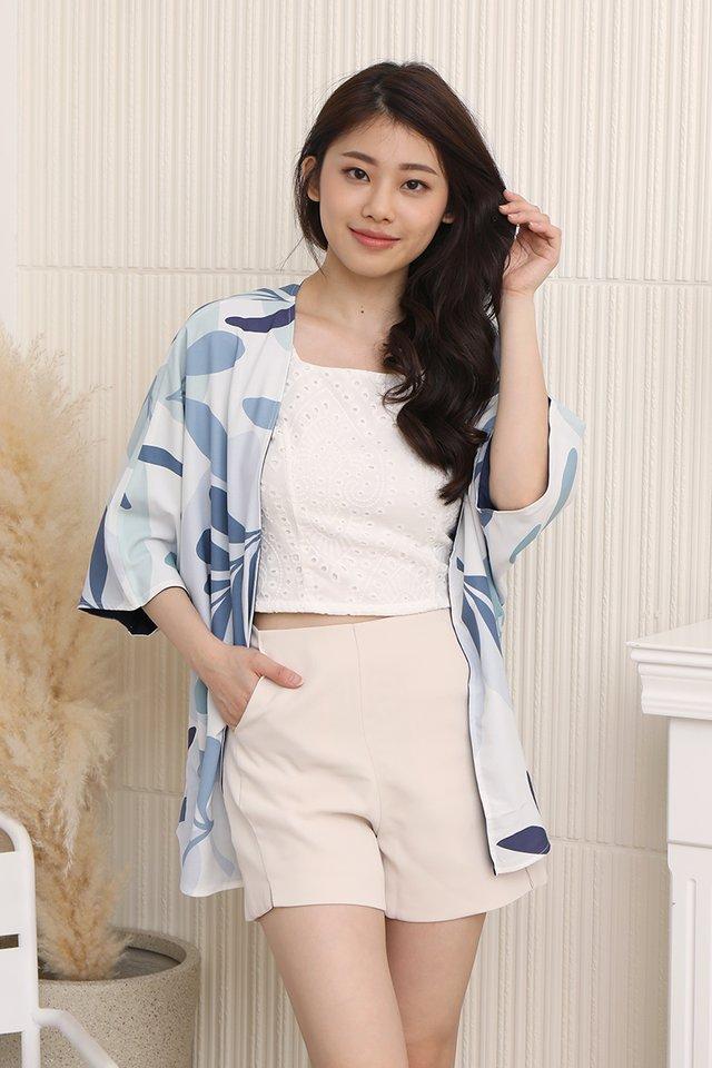 Nina Reversible Kimono Jacket (Navy Blue)