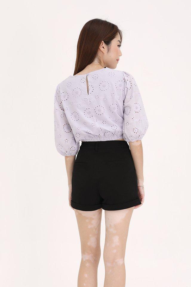 Nico Bubble Sleeve Top (Lilac)