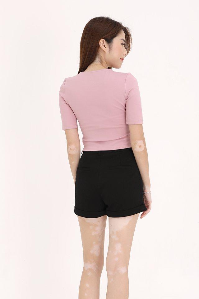 Miller Drawstring Top (Pink)