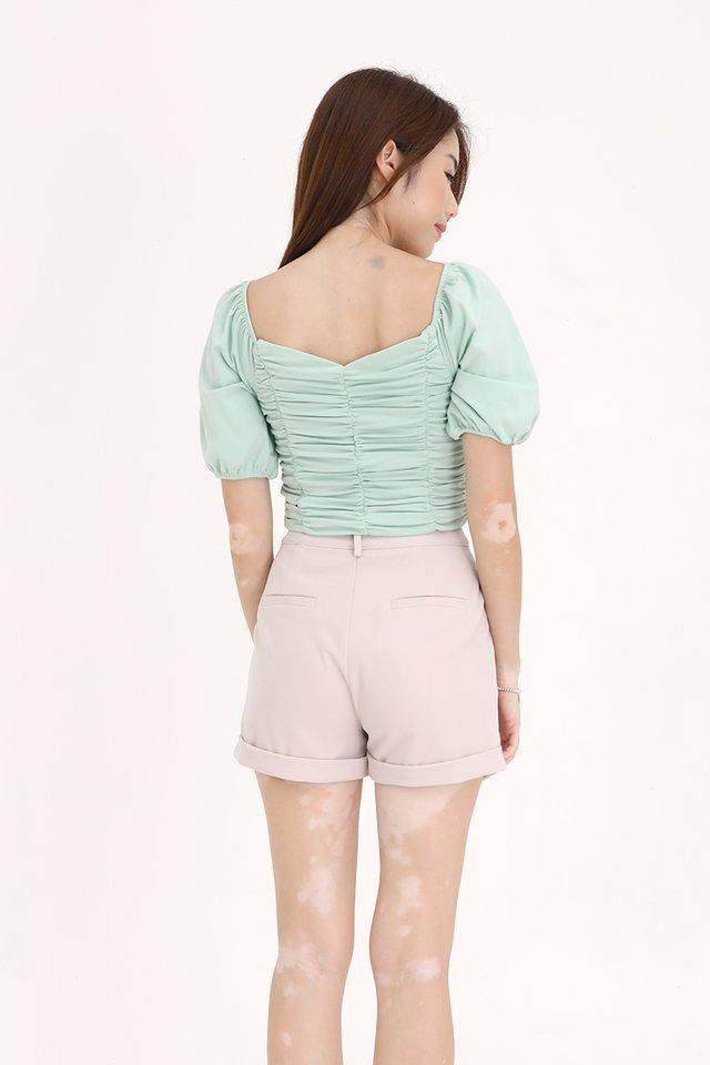 Ella Ruched Top (Green)