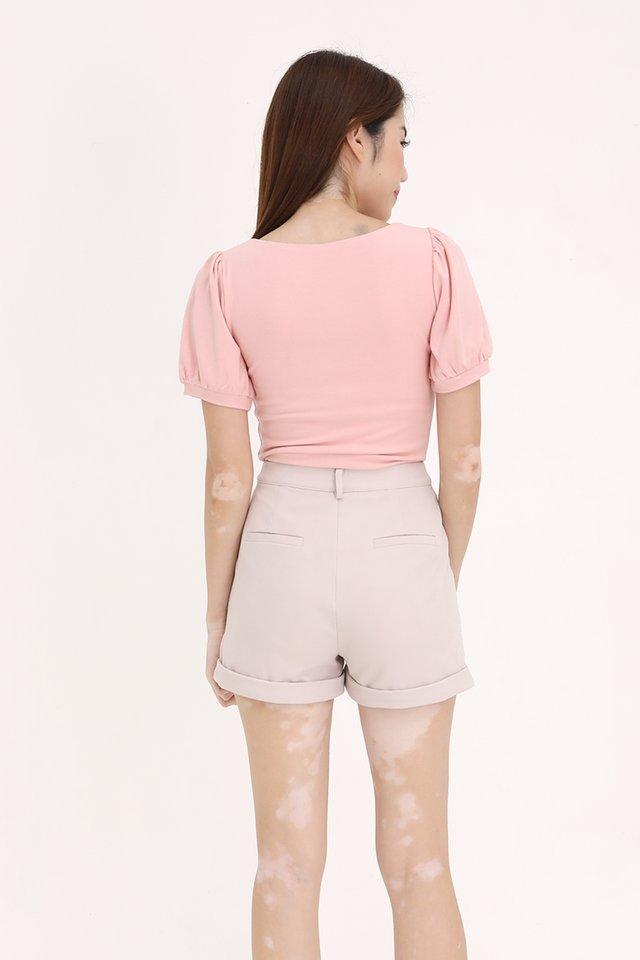 Zelda Soft Ribbed Top (Pink)