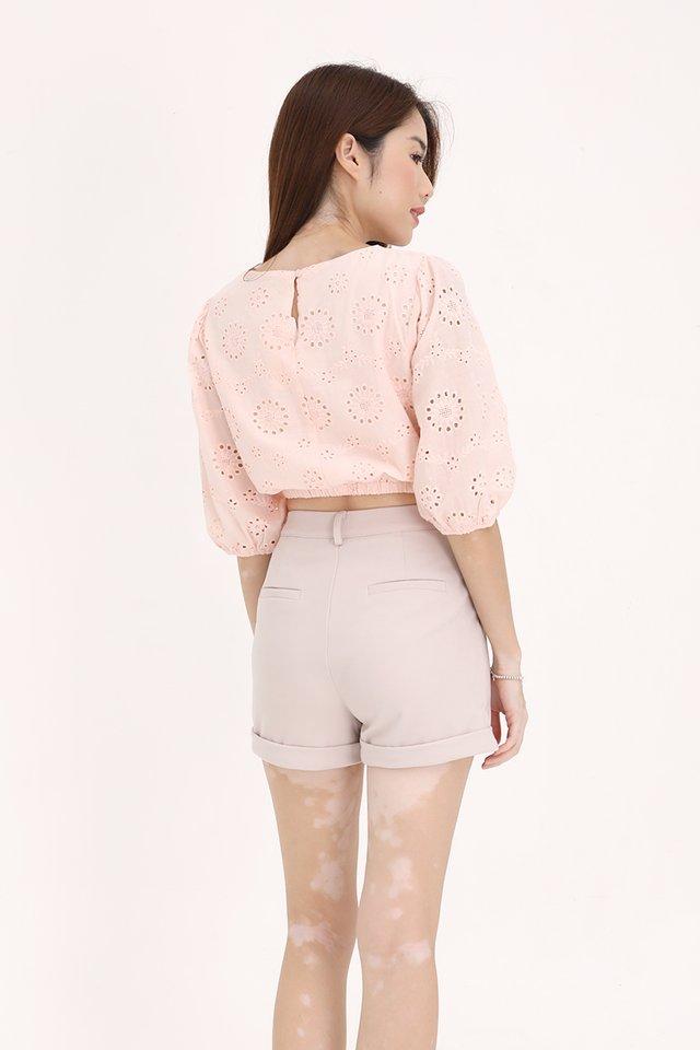 Nico Bubble Sleeve Top (Pink)