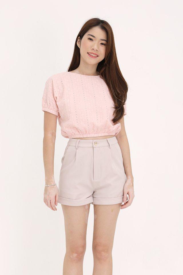 Daria Eyelet Top (Pink)