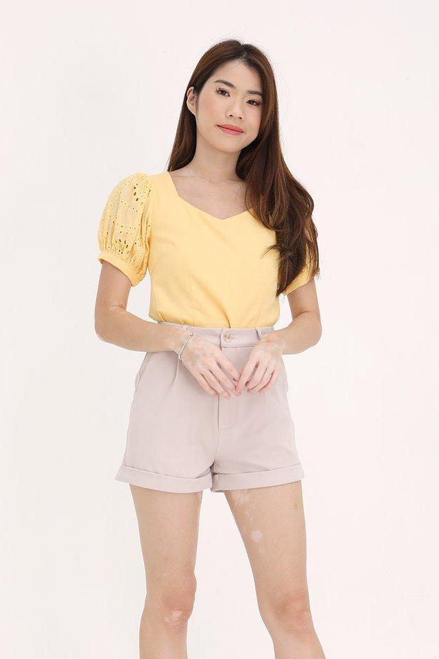 Yuri Puff Sleeves Top (Yellow)