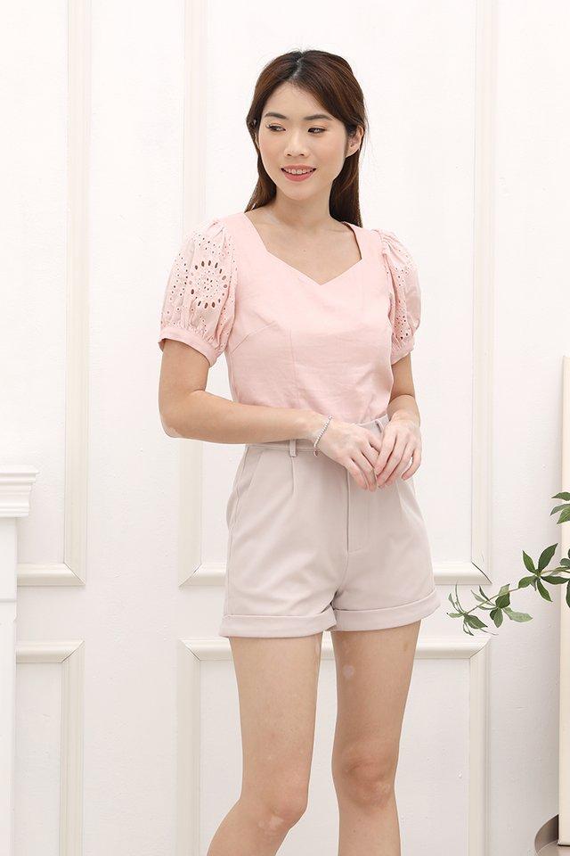Yuri Puff Sleeves Top (Pink)